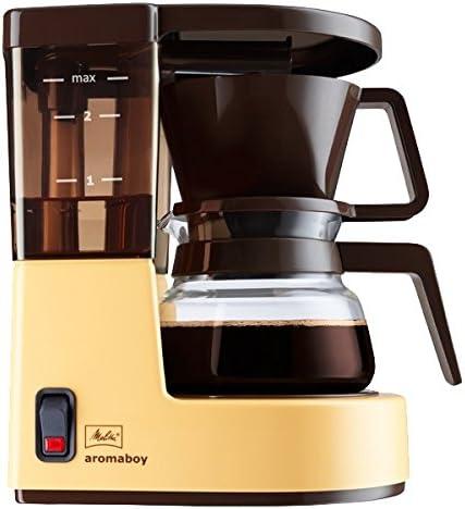 Melitta Cafetera de filtro con jarra de vidrio, Para 2 tazas de café, Aromaboy, Crema, 1015-03: Amazon.es: Hogar