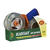 BladeSafe Tape Gun With HD Clear Packaging Tape, 2 Rolls, 1.88 Inch x 109 Yard, Clear (926458)