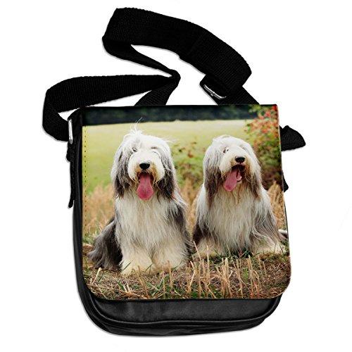 Bearded Collie Dog Animal Borsa A Tracolla 029