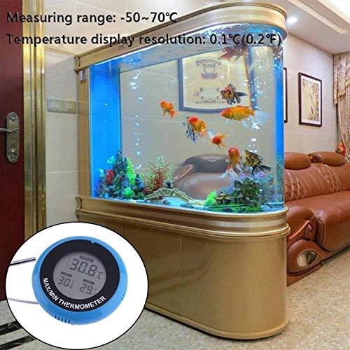 DZENJ Termómetro de Acuario, LCD Termómetro Digital de Alta precisión a Prueba de Agua para acuarios, estanques, Reptiles, Tortugas, hábitat (2 Paquetes): ...