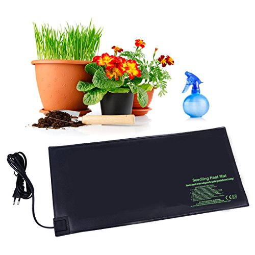 "BloomGrow 20""x10"" 20""x20"" 48""x20"" Seed Starter Pad Germination Propagation Clone Seedling Heat Mat (48""x20"") by BloomGrow"