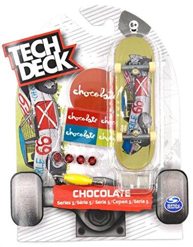 Tech Deck Mini Skateboard Chocolate Series 5 Fingerboard With Sticker & Stand (Deck Chocolate Tech)