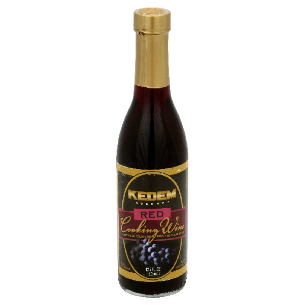 Kedem Cooking Wine Red No Sugar, 12.70-Ounce Glass Bottle (Pack of 6)