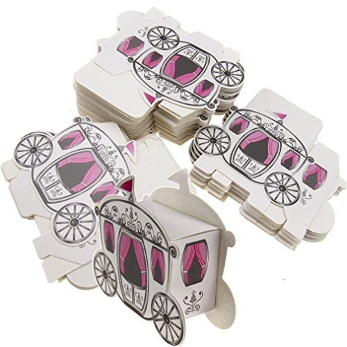 50pcs Candy Box Cinderella Fairytale Princess Carriage Wedding Favour Party -