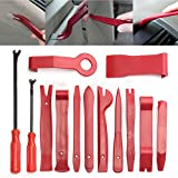 Car Panel Dash Radio Removal Installer Pry Tools Kit, Upholstery Removal Kit, Fastener Remover Pry Bar Scraper for Door Trim Molding Dash Panel