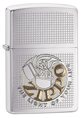 Zippo The Light of Your Life Brushed Chrome Pocket Lighter