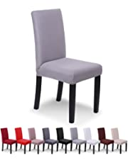 SaintderGR Stretchy Chair Cover Slipcovers 6 PCS Elastic Modern Protector Washable Removable Dining