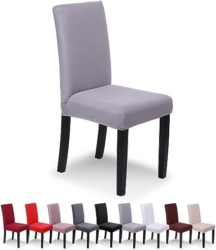SaintderG® Fundas para sillas Pack de 6 Fundas sillas Comedor, Lavable Extraíble Funda, Muy fácil de Limpiar, Duradera Modern Bouquet de la Boda, ...