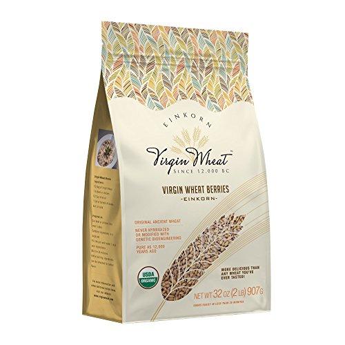 Organic Einkorn Wheat Berries : Virgin Wheat 2 Lbs Non-GMO (Flour No Wheat)