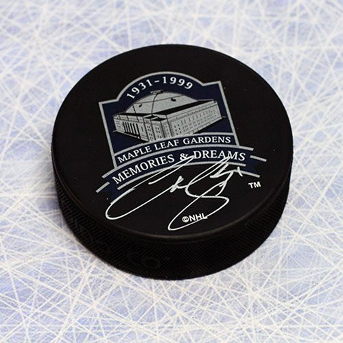 (Curtis Joseph Toronto Maple Leafs Autographed Memories and Dreams Hockey Puck)