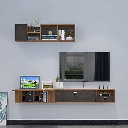 ZXYY Mueble de TV montado en la Pared Escritorio de la computadora Tocador con cajón Estante Flotante Estante de Pared Consola de TV Soportes de TV Estante de Almacenamiento de artículos electrón: