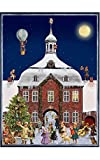 Victorian Style Town Hall Scene Large Advent Calendar Approx 10.5'' x 14'' (797)