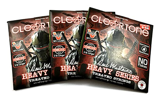 (Cleartone Guitar Strings 3 Pack Electric Dave Mustaine Signature Custom Studio)