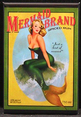 Mermaid Brand Spiced Rum Refrigerator Magnet.