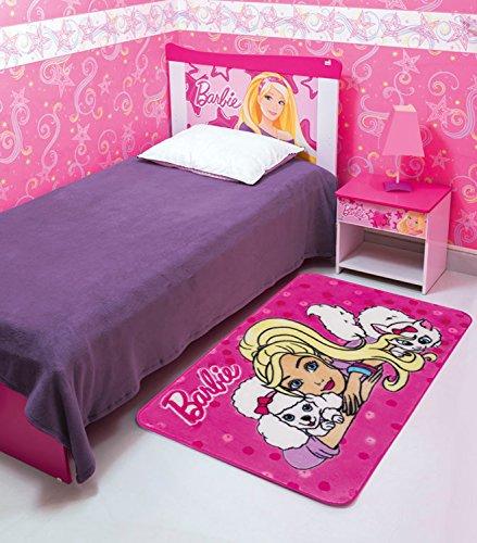 Tapete Orient Mattel Barbie e os Bichinhos JolitexRosa 70x110cm