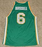 Bill Russell Signed Autographed Usf San Francisco #6 College Basketball Jersey