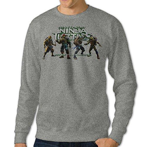 [JXMD Men's Mutant Ninja Turtles Out Of The Shadows 1 Crewneck Sweatshirt Ash Size L] (Caitlyn Jenner Costume)