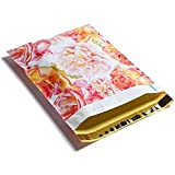 10x13 Pink & Yelow Watercolor Blossoms Designer Poly Mailers Shipping Envelopes Boutique Custom Bags (100)