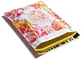 Poly Mailers Watercolor Blossoms Designer Mailers Shipping Envelopes Pink & Yellow Custom Bags #SmileMail (100 10x13)