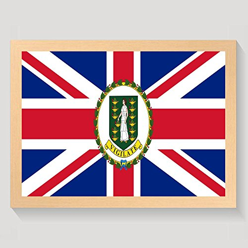 ChunLei Flag Of The British Virgin Islands Wall Art Work Decorative Painting Modern Home Framed Artwork Hanging Print Posters - Proof British Virgin Islands