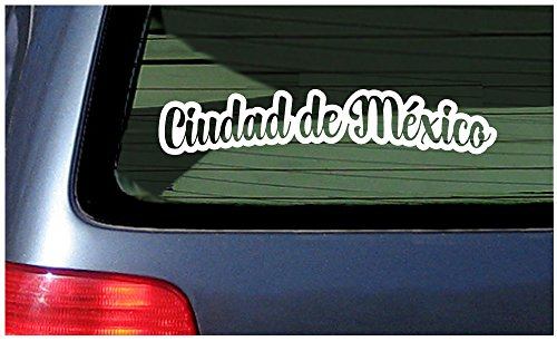 Price comparison product image Ciudad de Mexico - White Window Sticker Decal Vinyl Pride Mexico City