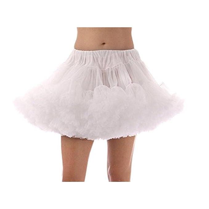 Tinksky Mujeres Falda clásica Swing Blanco Falda Falda Falda tutú ...