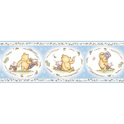 Imperial Disney Home DF059323B Pooh Classic Wall Border, Pastel Blue, 6.83-Inch Wide, Baby & Kids Zone