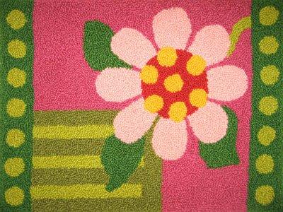 Geometric Needlepoint (MCG Textiles Geometric Floral Rug Yarn Punch Needle)