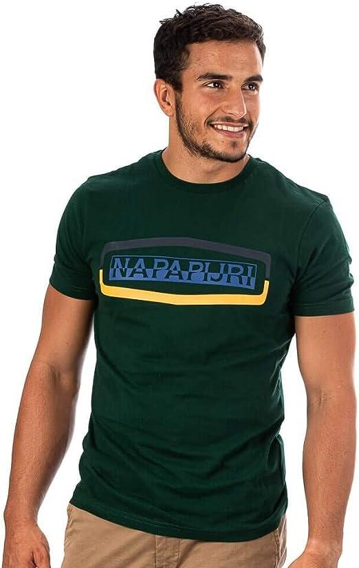 Napapijri sogy Camiseta Cazador Verde: Amazon.es: Ropa y accesorios