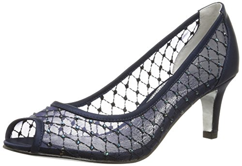 Adrianna Papell Women's Jamie Dress Pump, Navy Mesh, 7 M US