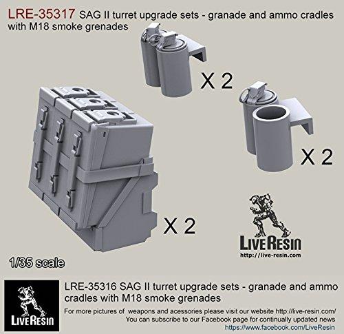 Amazon com: Live Resin 1:35 SAG Turret Ammo Boxes Cradles w