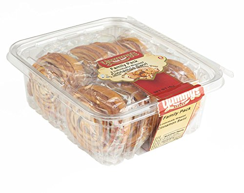 Yummys Cookies Bakery Fresh Baked Grab N Go Pastry Snacks, Individually Wrapped Dessert Packs for on the Go Convenience, Cinnamon 14 oz. Cinnamon Sweet Rolls