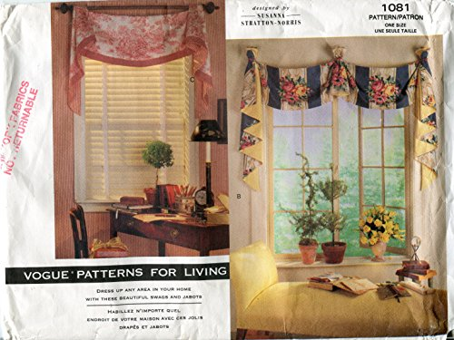 Vogue Patterns for Living 1081 Susanna Stratton-Norris Window Treatments - Butterick Window Treatment Patterns