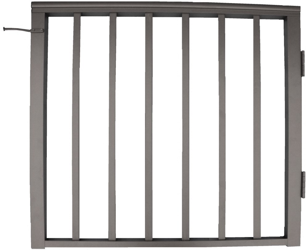 Contractor Deck Railing 36in x 36in Aluminum Residential Gate - Bronze by Contractor Handrail Deck Railing