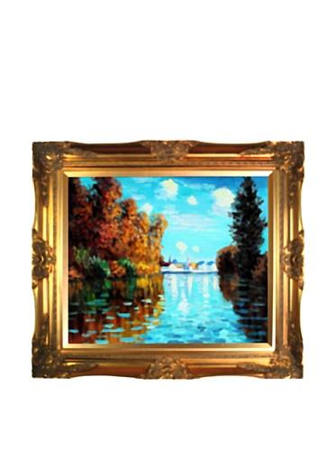 Autumn at Argenteuil Canvas Art by Claude Monet (Argenteuil Framed)