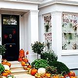 KD KIDPAR 3Pcs Halloween Window Door Decoration