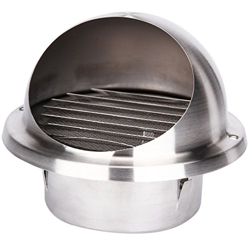 Surepromise 304 Stainless Steel Wall Air Vent Metal Cover Outlet Exhaust Grille 100MM / 4