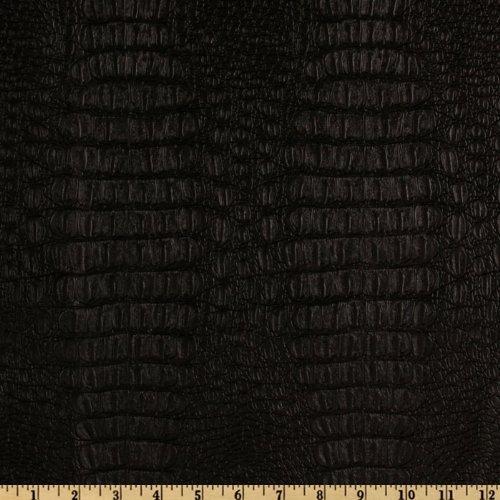 Plastex Fabrics CW-701 Faux Leather Gator Black,