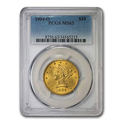 1904 O $10 Liberty Gold Eagle MS-63 PCGS G$10 MS-63 PCGS