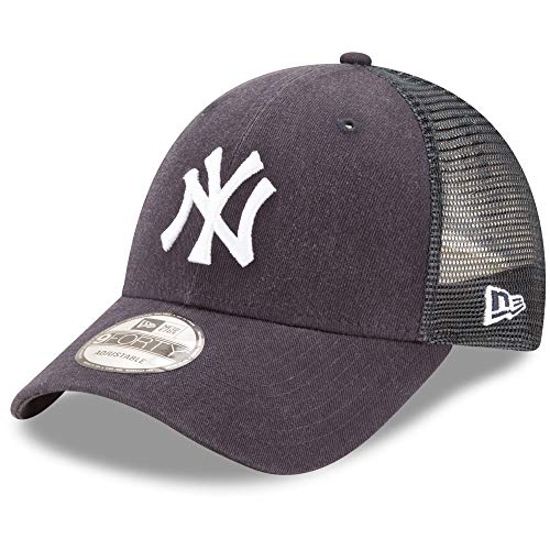 - New Era 9Forty New York Yankees Hat Trucker Adjustable Mesh Navy Blue Cap