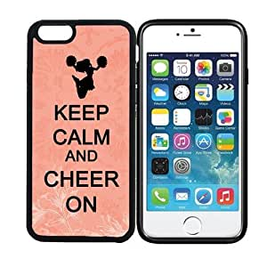 iPhone 6 (4.7 inch display) RCGrafix Keep Calm And Cheer On 2 - Designer BLACK Case - Fits Apple iPhone 6- Protected Cell Phone Cover PLUS Bonus Iphone Apps Business Productivity Review Guide