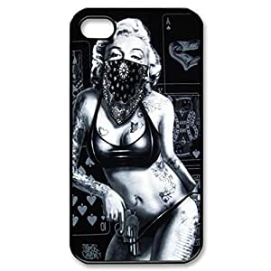 Zheng caseZheng casemarilyn monroe Hard Cover Case for iPhone 4/4s case -black CASE