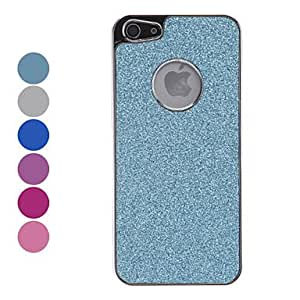 Solid Color Shimmering Powder Hard Case for iPhone 5 (Assorted Colors) --- COLOR:Navy