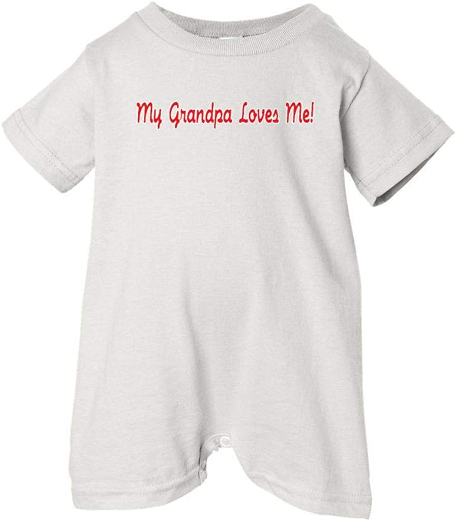 So Relative White, 18 Months Unisex Baby My Grandpa Loves Me T-Shirt Romper