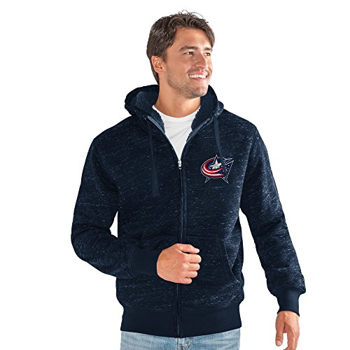 G-III Sports NHL Columbus Blue Jackets Men's Discovery Space Dye Transitional Jacket, Large, Navy (Jacket G-iii Mens)