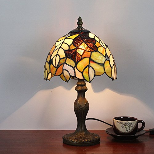 Desk Maple Country (ZN table lamp Desk 8 Inch Maple Pastoral Retro Antique Table Lamp Bedside Lamp)