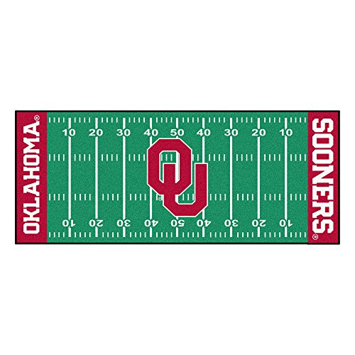 FANMATS NCAA University of Oklahoma Sooners Nylon Face Football Field Runner