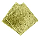 Vibola Baby Puzzle Mat 1PCS 30x30cm Non-Slip Shower Rug Absorbent Soft Bath Bedroom Floor Square Mat (A-Green)
