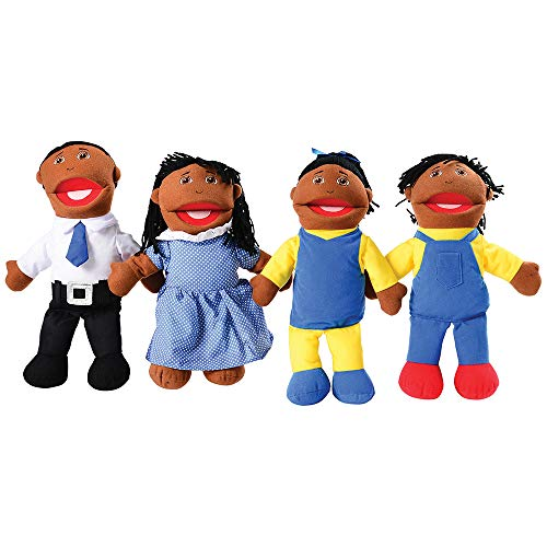 Mtc421 - Family Puppet Set African American (Family African American Puppet)