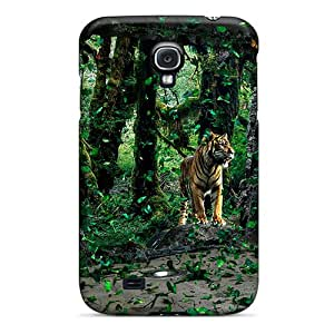 Fashionable Style Case Cover Skin For Galaxy S4- Lion